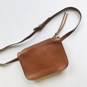 NWT Madewell leather fanny pack belt